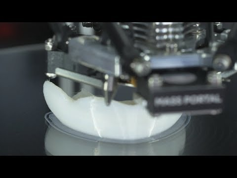 Timelapse of mouthguards being 3D printed