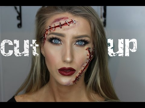 CUT UP STAPLE FACE! Easy SFX Halloween Tutorial