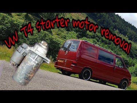 Starter Motor Removal, VW Transporter (T4)