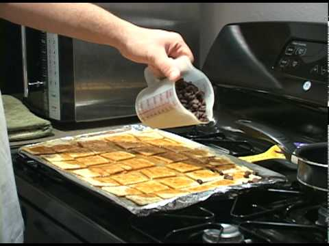 How to make Chocolate Toffee Crackers