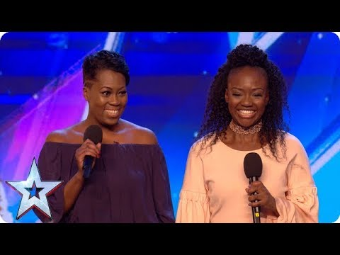 Sisters Suzanne and Roxanne take on Stormzy and have a big SURPRISE in store! | Auditions | BGT 2018