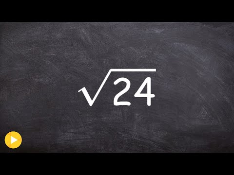 How to Simplify the Square Root of a Non Square Number