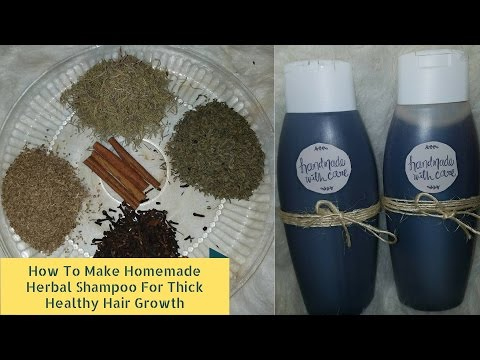 How To Make Homemade Herbal Shampoo For Thick Hair Growth