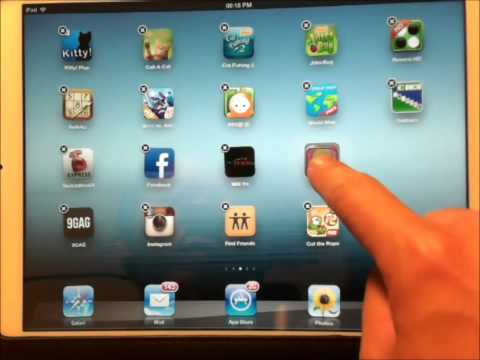 How to create new folder in iPad / iPhone for iOS