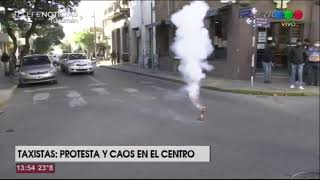 Taxistas: protesta y caos en el centro