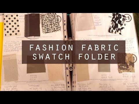 BA Fashion and textiles fabric swatch folder flick through (First Class Degree)