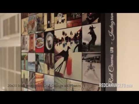 Instagram Collage Canvas Print by Red Canvas LTD
