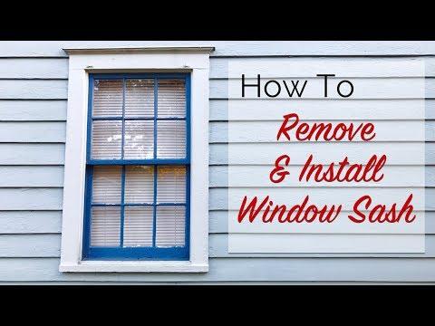 How To: Remove & Install Window Sash