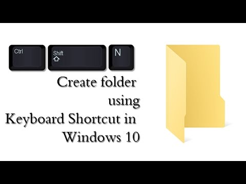 Create a new Folder with keyboard Shortcut in Windows 10