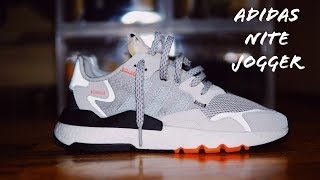 ca08d5ef7 Adidas Nite Jogger White Solar Orange Multi Grey Unboxing On Foot Review