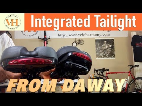 Daway Integrated taillight bicycle Saddle Review