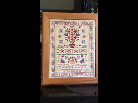First Video to Revive Cross Stitch Sampler made in the 1980's
