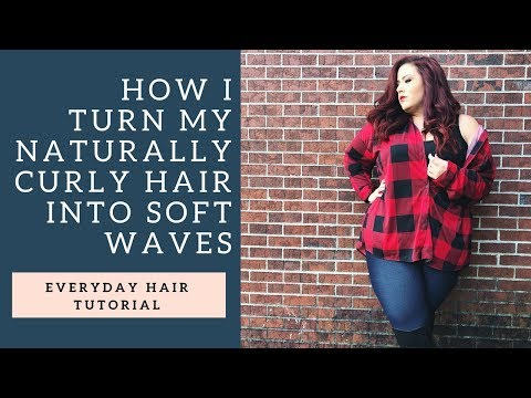 How I Turn my Naturally Crazy Curly Hair into Soft Waves