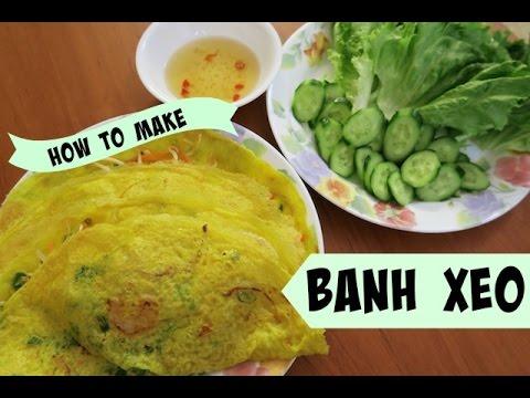 How to make BANH XEO - Vietnamese Crepes