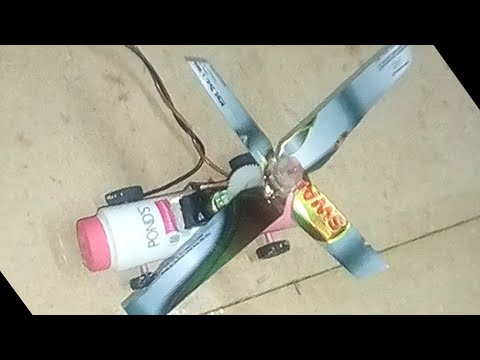 How to make a flying helicopter at home in hindi