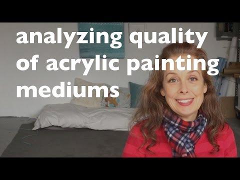 Analyzing Quality of Acrylic Mediums