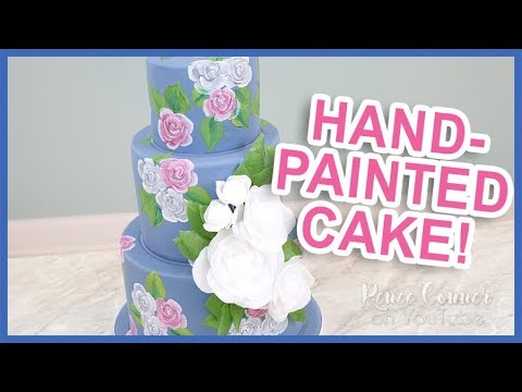 Hand-Painted Rose Cake | Renee Conner