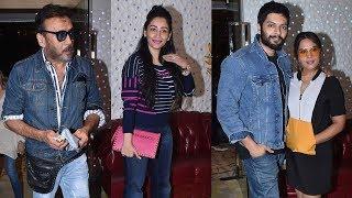 Maanayata Dutt, Jackie Shroff, Ali Fazal & Richa Chadha At Special Screening Of Prassthanam