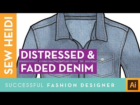 Distressed & Faded Denim Effect in Illustrator