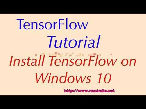 Installing TensorFlow on Windows 10
