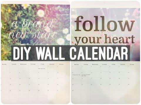 DIY Wall Calendar | Easel & We Heart It