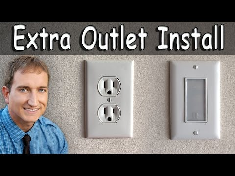 How To Install An Extra Electrical Outlet and Outlet Night Light