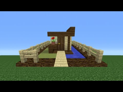 Minecraft Tutorial: How To Make A 3x3 House (Smallest House I'll Ever Make)