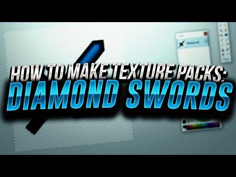 How to Make Texture Packs: Diamond Swords