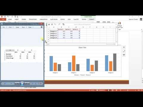 How to insert column chart (Bar-Graph) in Powerpoint