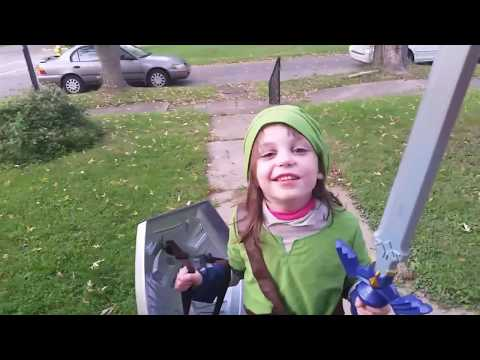Jojo Slays Moblins in the Yard! Link Cosplay | Link Costume | Link Halloween  child legend of zelda