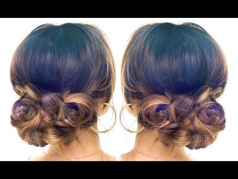 4-Minute Elegant BUN Hair Tutorial ★ EASY Updo HAIRSTYLES | Hair Tutorial