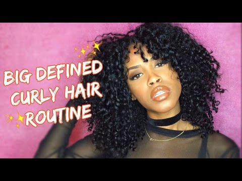 BIG Defined Curly Hair Routine 2016