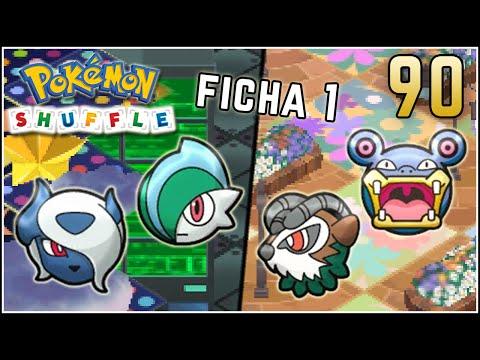 Pokémon Shuffle S Rank 90 - MEGA ABSOL & GALLADE / MISIONES FICHA 1 :]