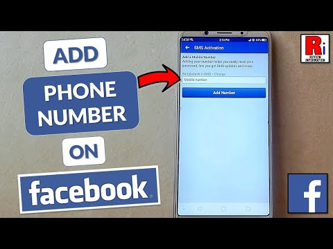HOW TO ADD PHONE NUMBER IN FACEBOOK