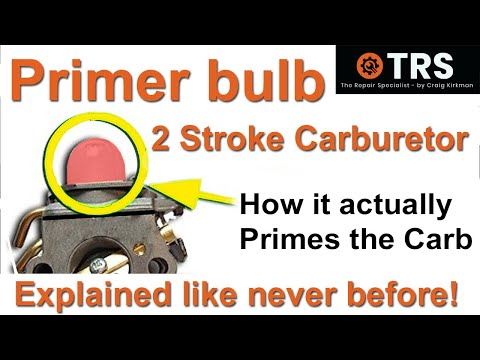 How a Primer Bulb works/Easily Explained/Two Stroke Cycle Carburettor/Help Fix Your Own/Save Money