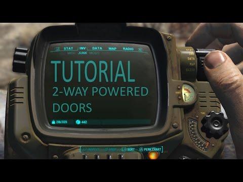 Fallout 4 Tutorial: 2-way powered doors (using logic gates).