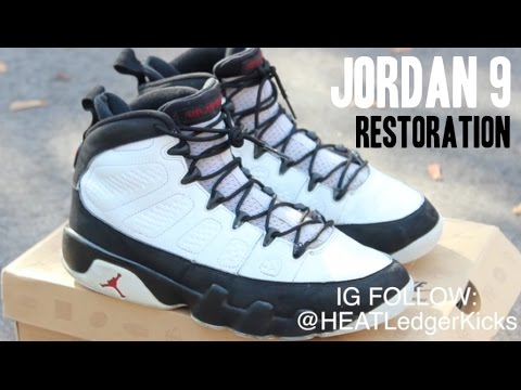 JORDAN 9 'PLAYOFF' | FULL RESTORATION TIME-LAPSE!