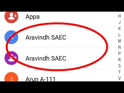 How To Remove/Delete Multiple Duplicate Contacts in Android|Tablet