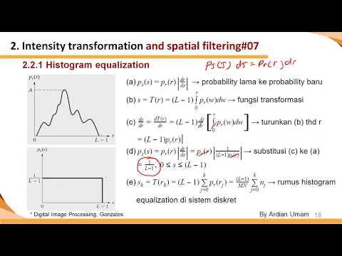 2.04 - Histogram Equalization: Pembuktian Secara Matematis