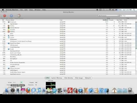 Monitor CPU Usage on Dock Using Mac