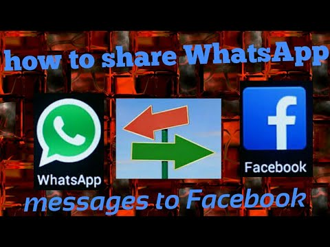 How to share WhatsApp message to Facebook