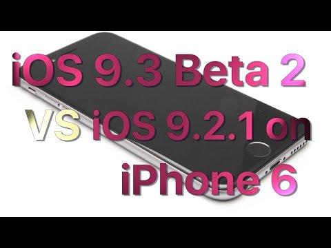 iPhone 6 iOS 9.2.1 vs iOS 9.3 Beta 2 / Public Beta 2 Build 13E5191d Speed Comparison