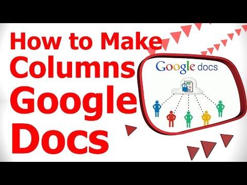 How to Make Columns Google Docs