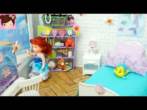 DIY Disney Ariel Mermaid Inspired Toddler Doll Room - Titi Toys and Dolls