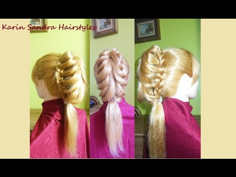 Cage Braid Ponytail | Easy hairstyle for long hair | Tresses Cage