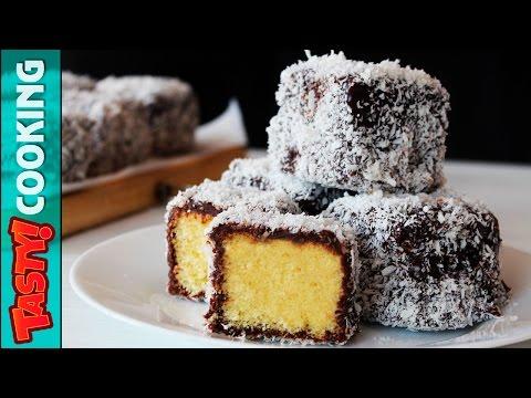 LAMINGTONS Recipe ♥ Super Easy And Delicious Australian Dessert ♥ Tasty Cooking