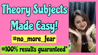 How to make notes for theory subjects|Apply this and overcome your fear of theory subjects