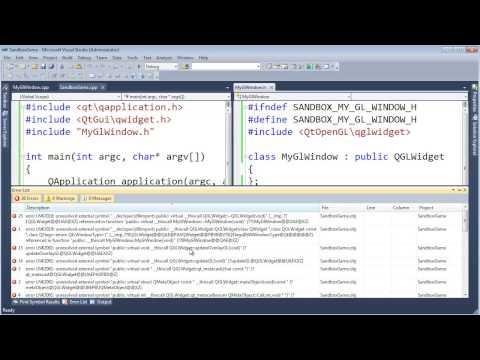 Showing a Basic Qt OpenGL Window