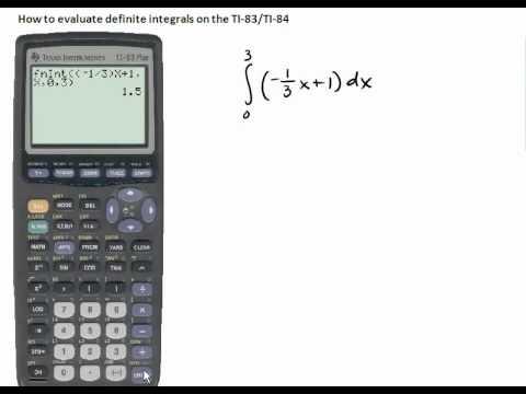 5.006 Evaluating Definite Integrals Using the TI83/84