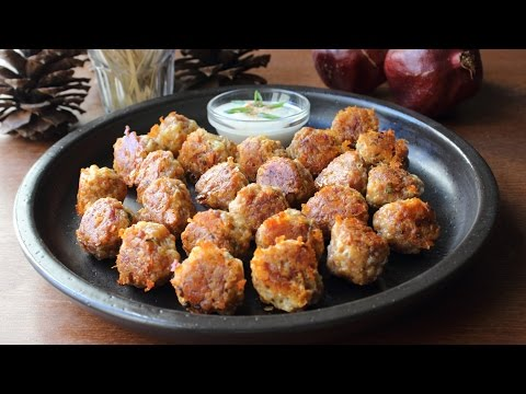 Sausage Cheese Balls - Cheesy Sausage Biscuit Balls Recipe - Party Food